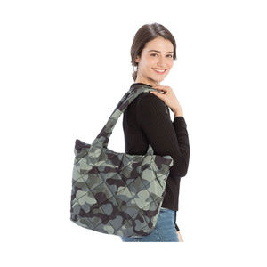 Tigerstars Camouflage Quilted Puffer Tote Bag